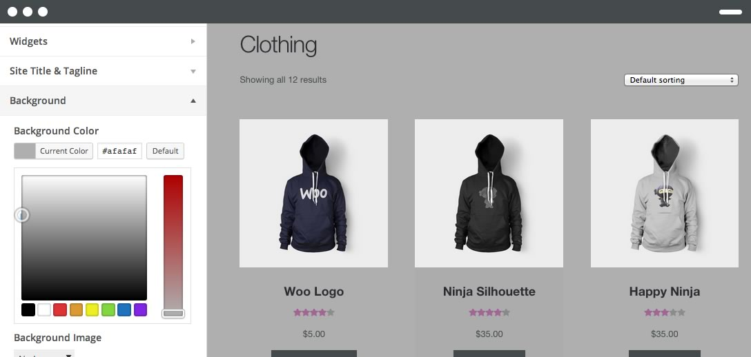 Storefront. The Official WooCommerce Theme