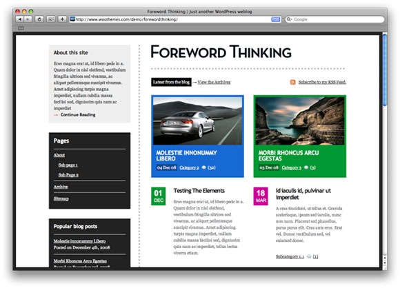 Foreword Thinking corporate white style