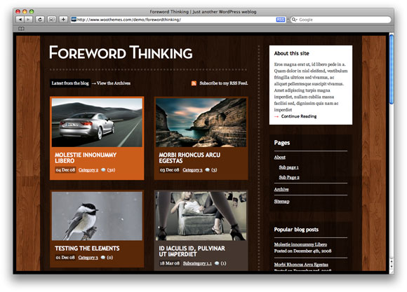 Foreword Thinking wood style with right sidebar