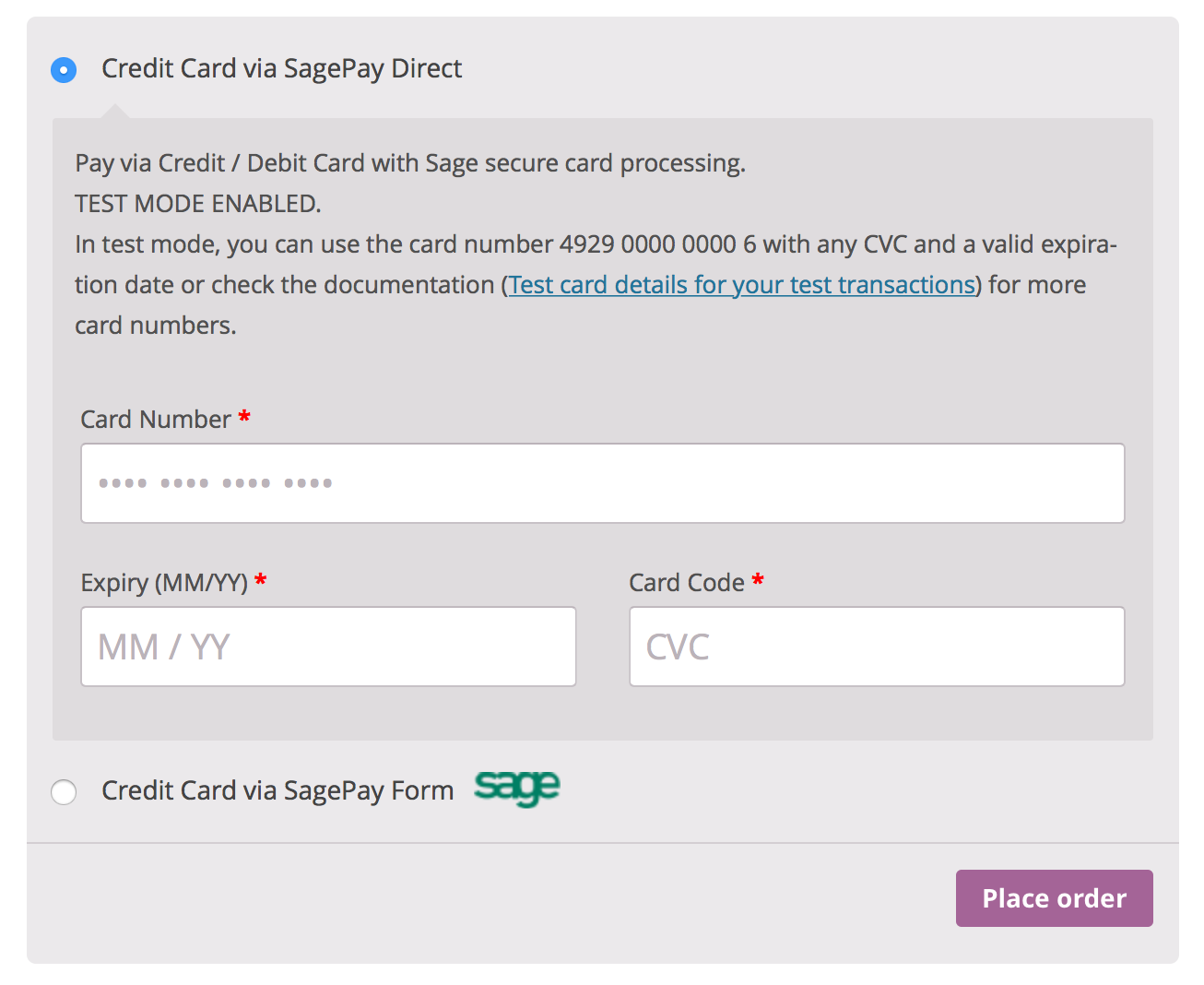 sagepay form sagepay direct woocommerce sagepay checkout
