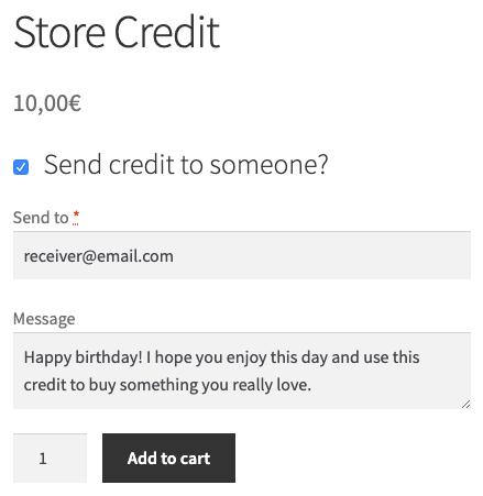 Buy Store Credit