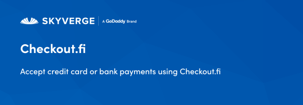 Accept credit card or bank payments using Checkout.fi