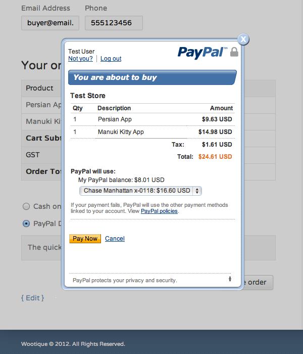 Paypal Non Mobile Site