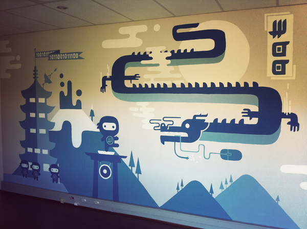 WooHQ office murals WooCommerce
