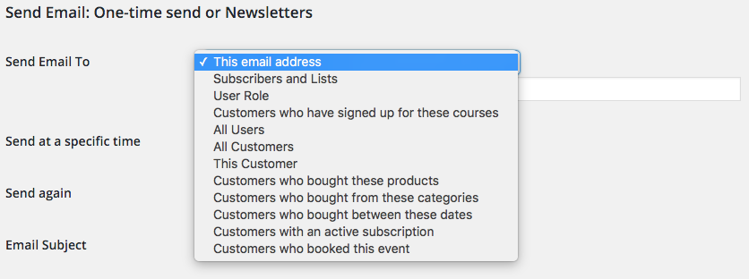 Newsletters And One Time Emails