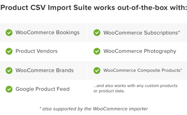 Product CSV Import is compatible with many extensions