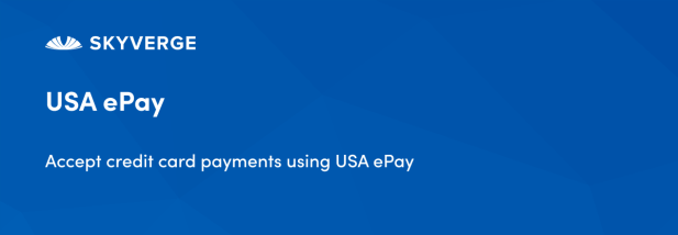 Accept credit card payments using USA ePay