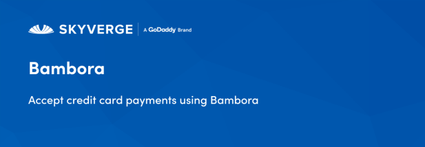 Accept credit card payments using Bambora