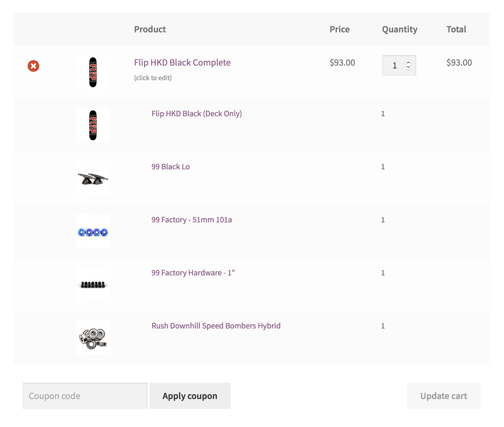 Woocommerce product bundles build assembled products using multiple inventory managed parts and control the visibility of each bundled item in the single product cartcheckout fandeluxe Images