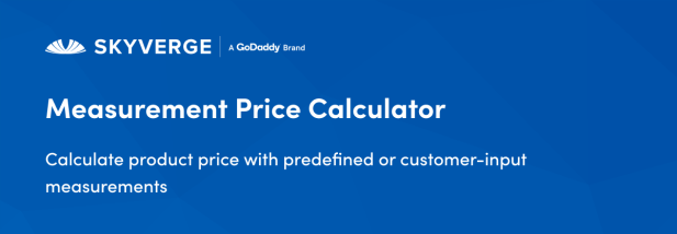 Calculate product price with predefined or customer-input measurements