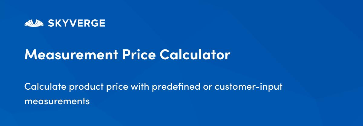 Measurement Price Calculator - WooCommerce