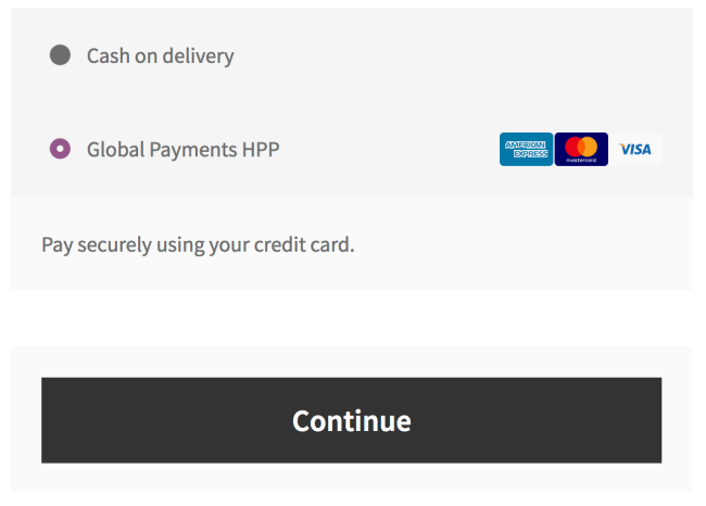 WooCommerce Global Payments HPP checkout experience