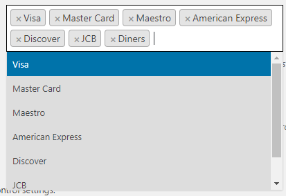 Paysafe choose accepted cards