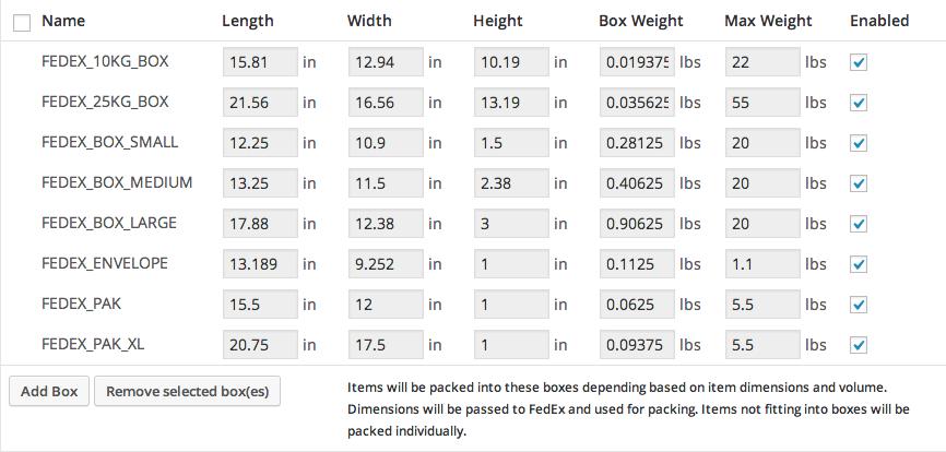 FedEx Shipping Method