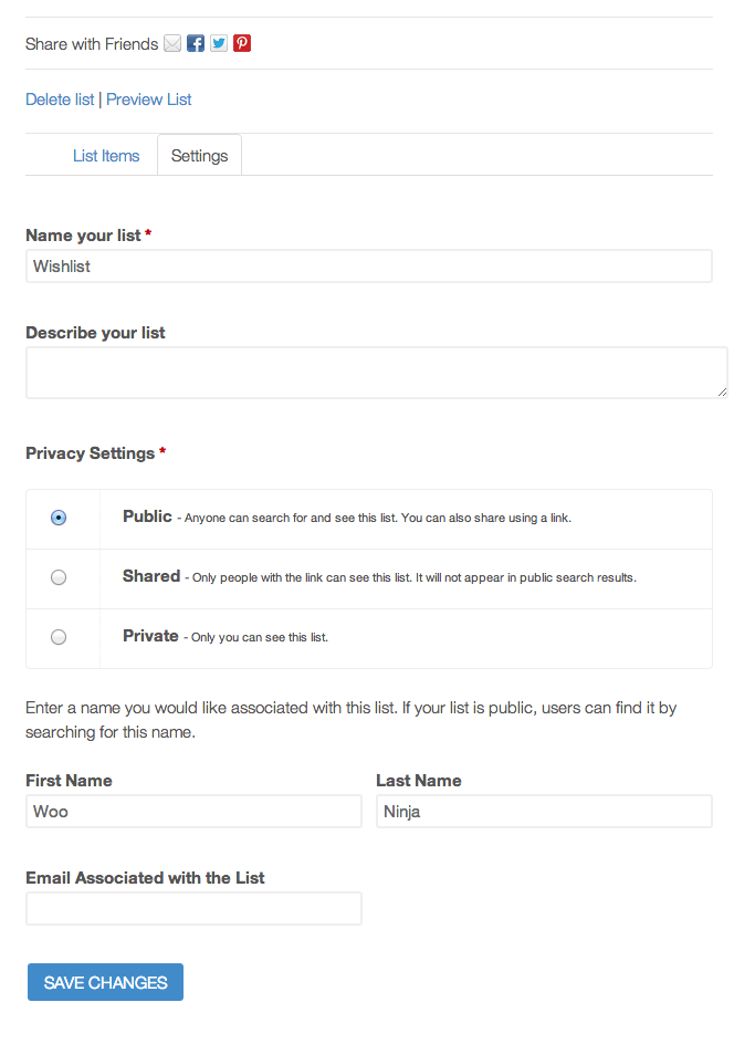 d1200cfe70469 Front-end Wishlist Settings for your shop customers.