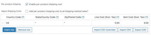 Per Product Shipping Extension - WooCommerce