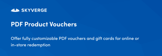 Offer fully customizable PDF vouchers and gift cards for online or in-store redemption