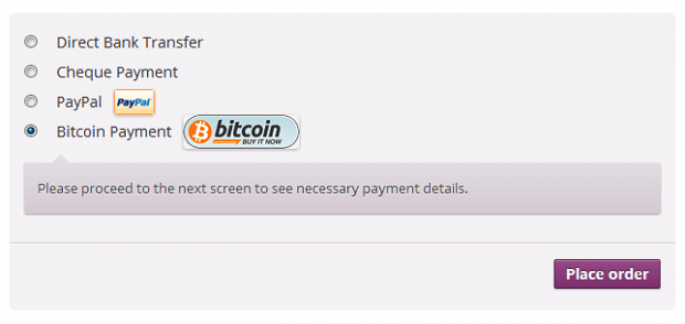 Pay via Bitcoin