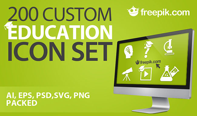 200-custom-education-icon-set