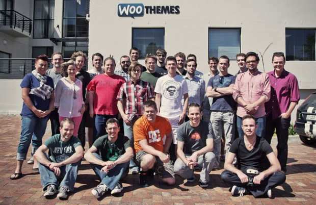 The WooThemes team on their 2012 WooTrip in Cape Town.