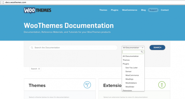 Quickly find your theme documentation.