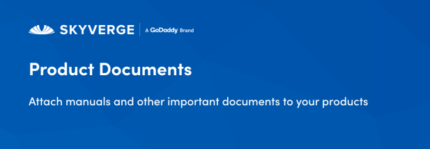 Attach manuals and other important documents to your product