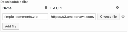 WooCommerce API Manager Files URL