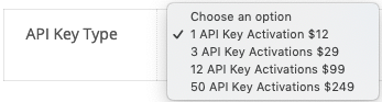 WooCommerce API Manager API Key Type