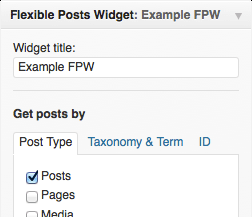 flexible-posts-widget