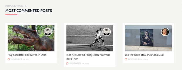 Showcase your most active blog posts, right on your homepage.