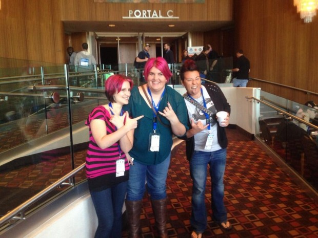 There was a lot of pink hair at WordCamp Phoenix.