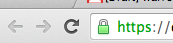 Most browsers will also put a little green lock in the address bar to let you know you're on a secure connection