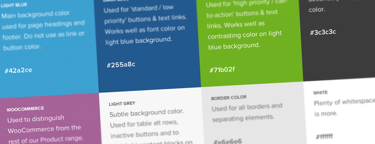 The WooThemes color palette.