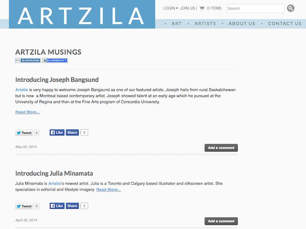 Artzila Musings