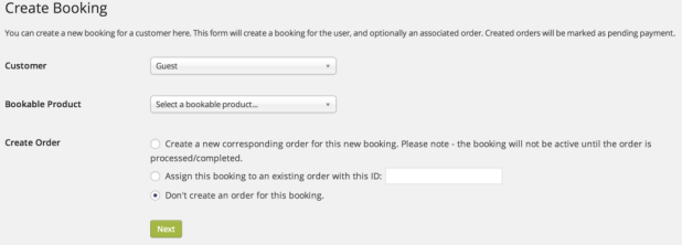 WooCommerce Bookings - manual