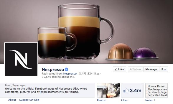 Nespresso Facebook
