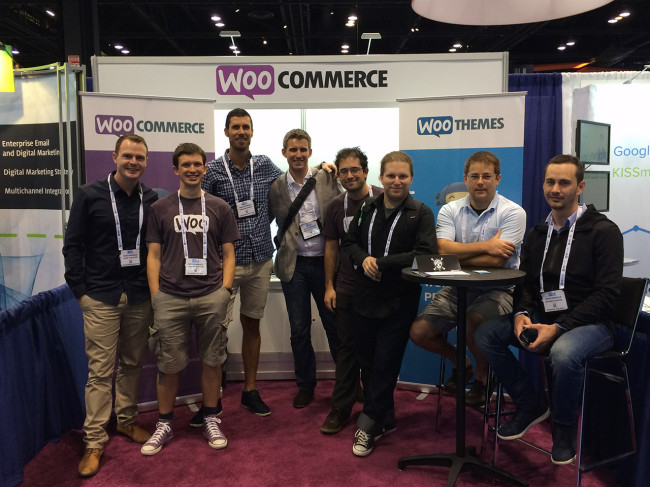 The WooCommerce booth at IRCE
