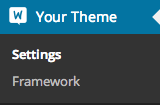 "The ""Theme Options"" menu is now called ""Settings""."
