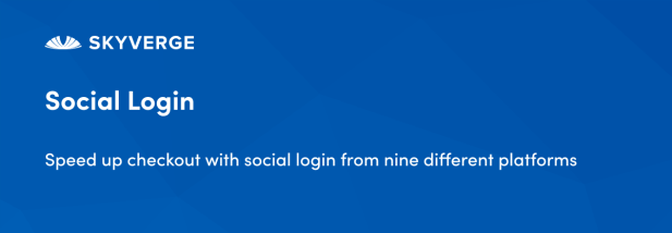 Speed up checkout with social login from nine different platforms