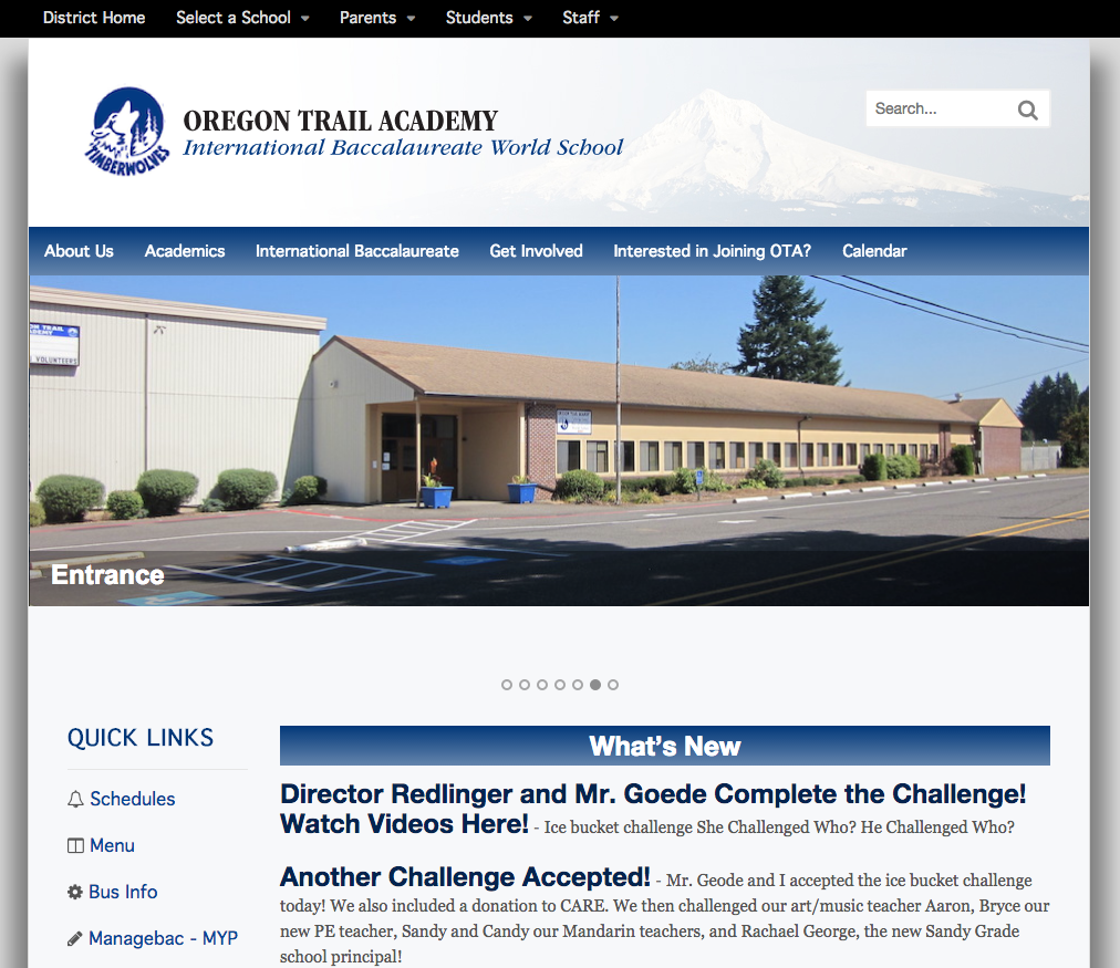 Oregan Trail Academy