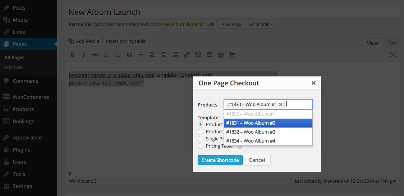 Woocommerce One Page Checkout Woocommerce