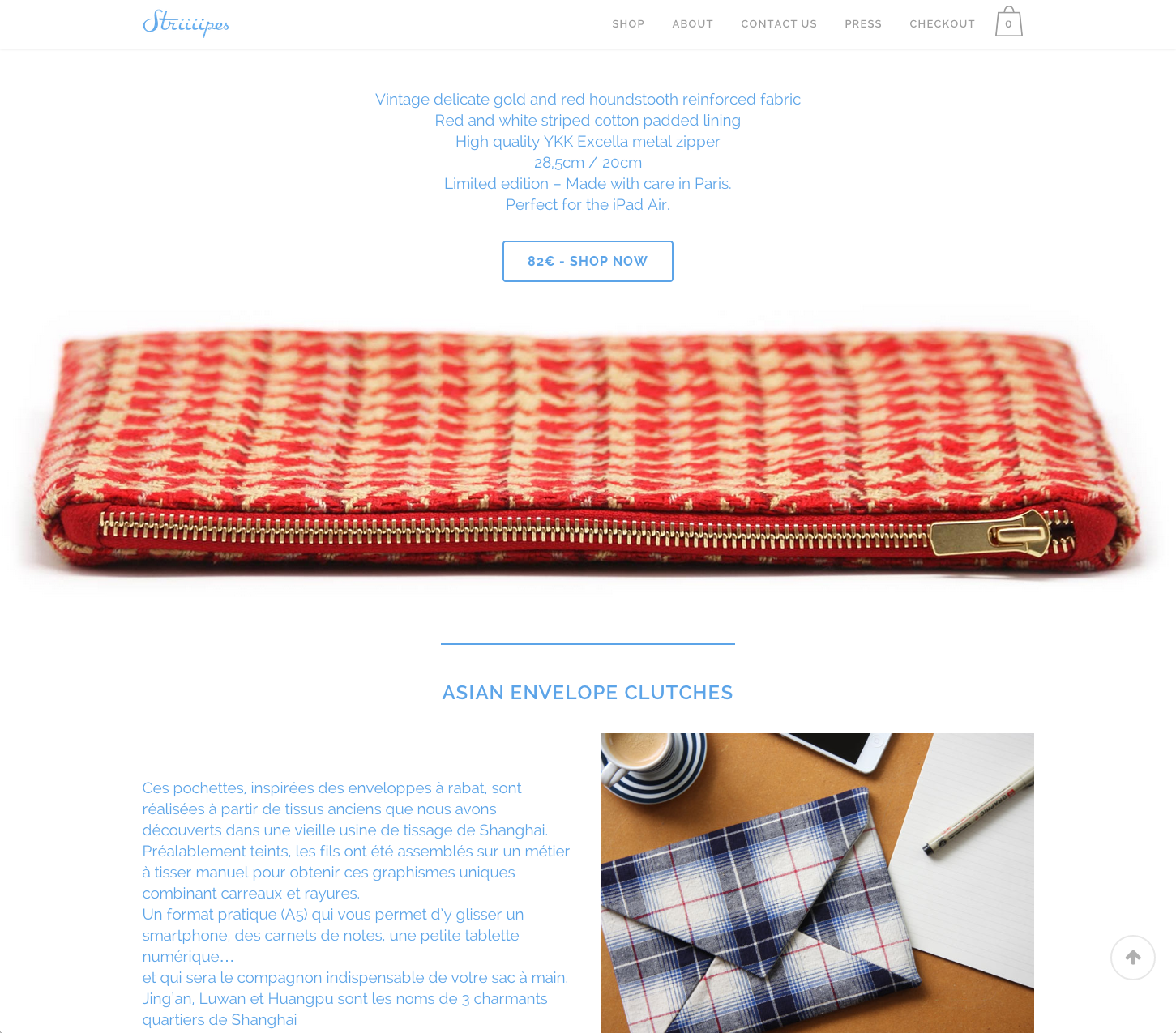 Striiiipes - Landing Page - iPad Accessories