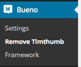 Click to remove timthumb