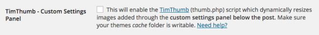 Timthumb Theme Option