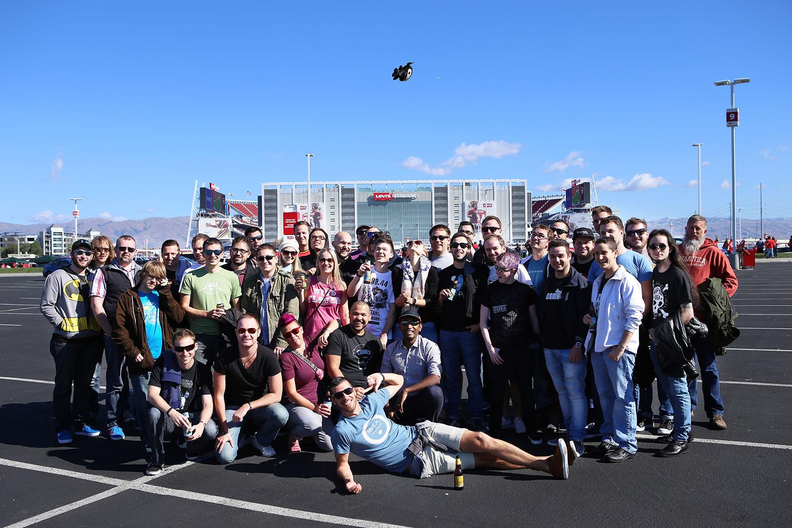 Levitating ninja at WooTrip 2014