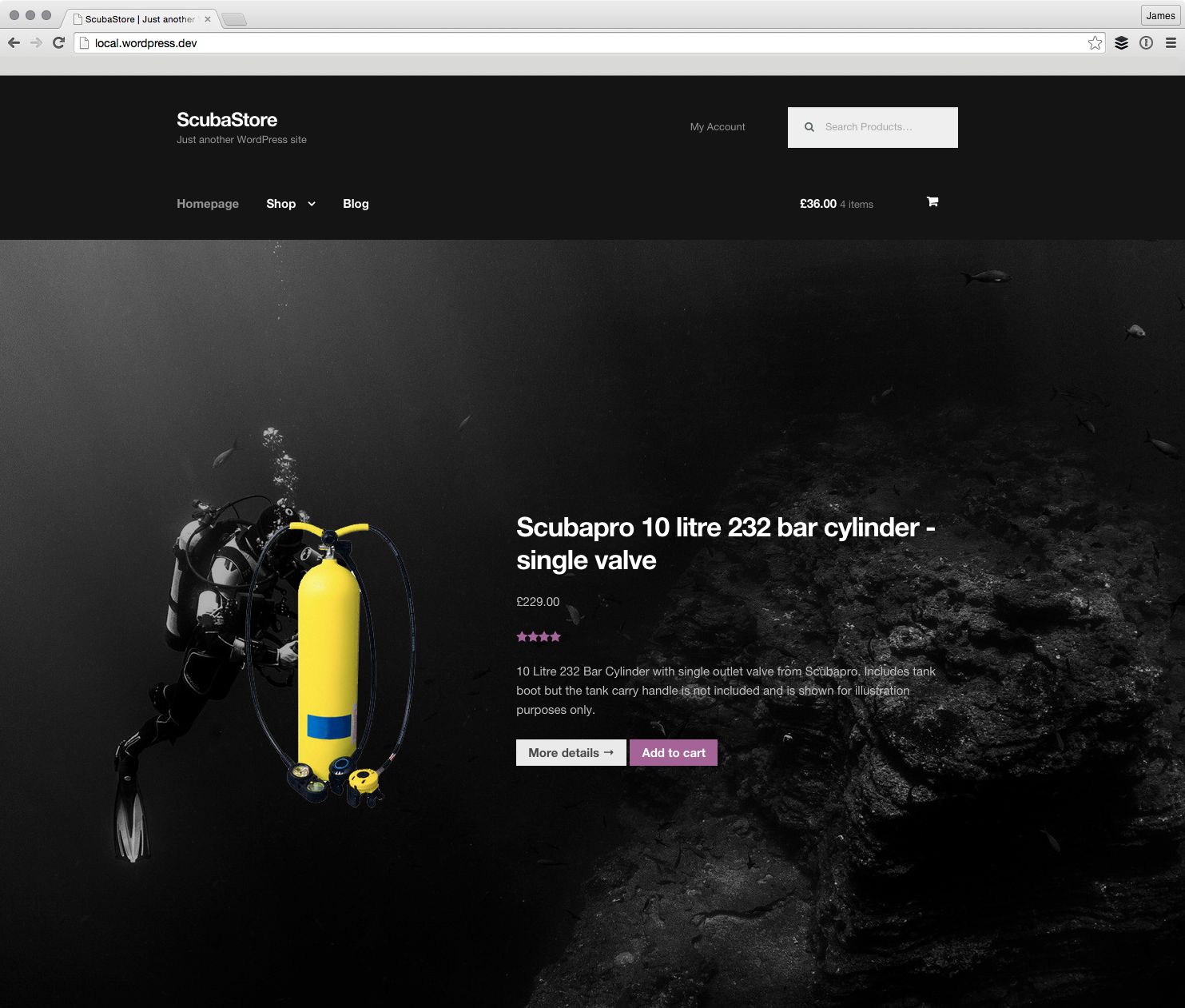 The Product Hero in action on a homepage