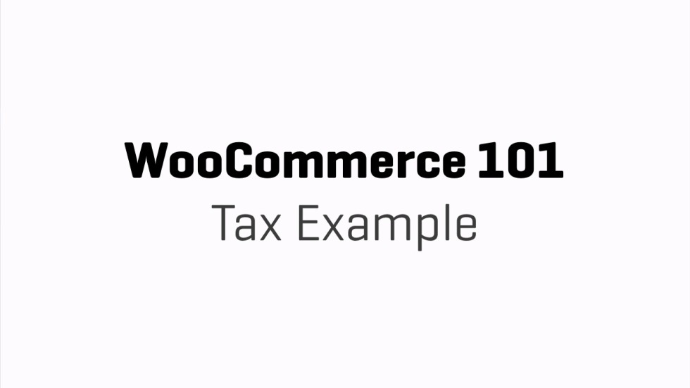 Tax Rate Example Woocommerce