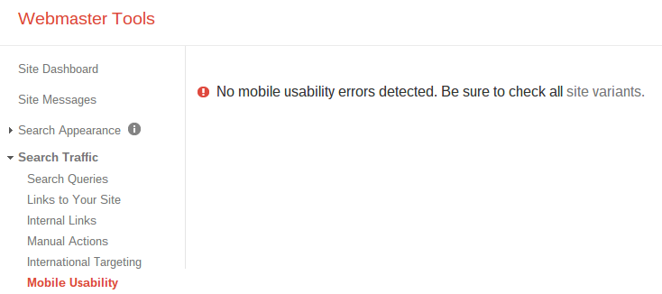 no mobile errors