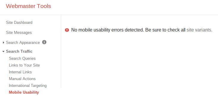 no mobile errors