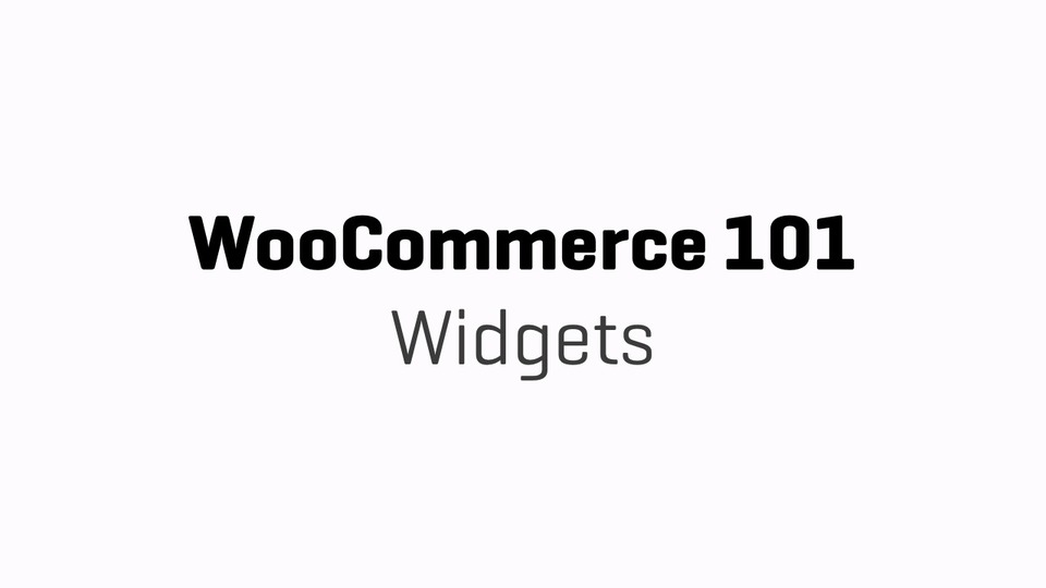 WC101 - Part 12 - Widgets